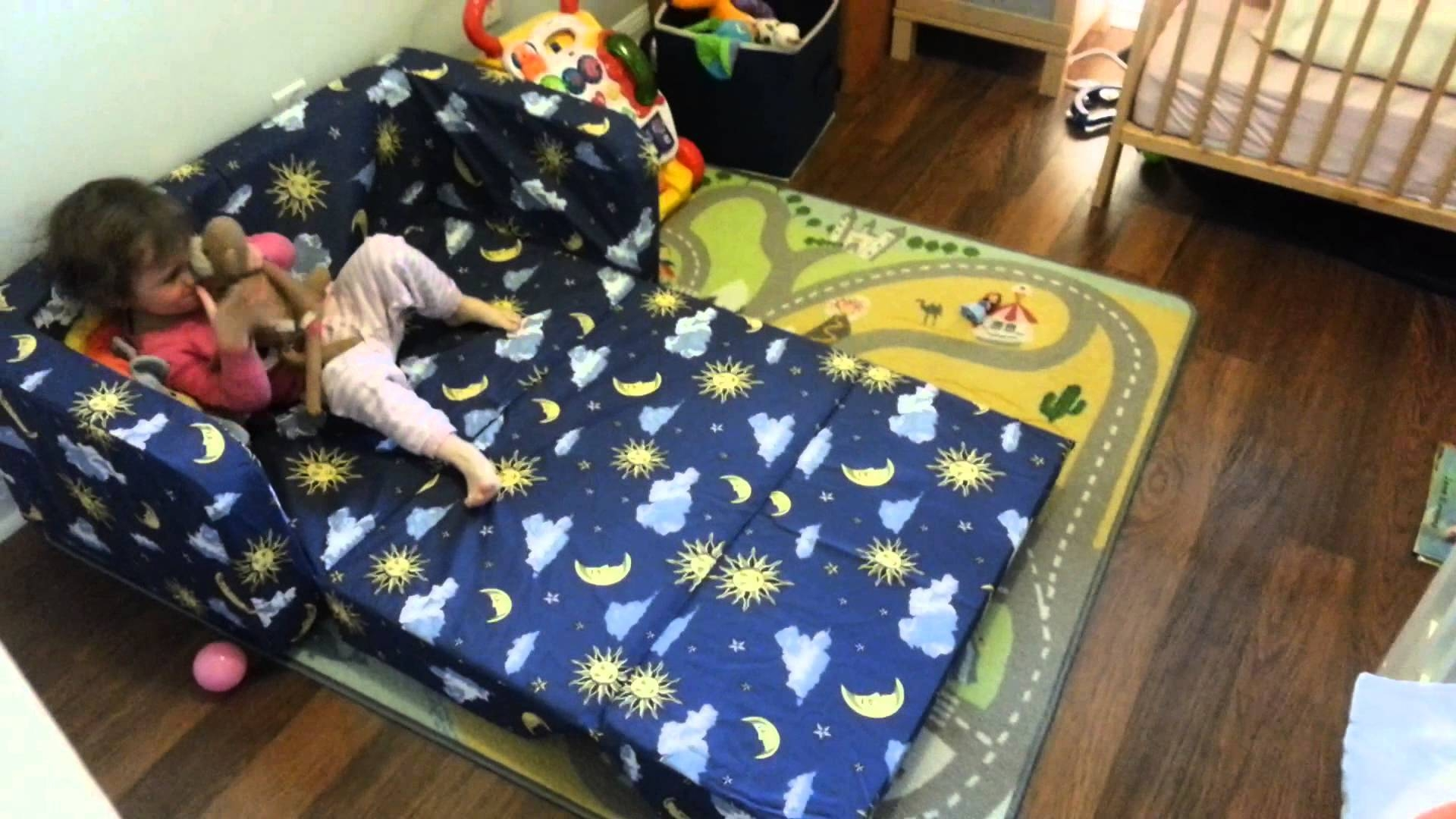 Eloise New Toddler Flip Sofa Pt2 - Youtube for Kid Flip Open Sofa Beds (Image 4 of 15)