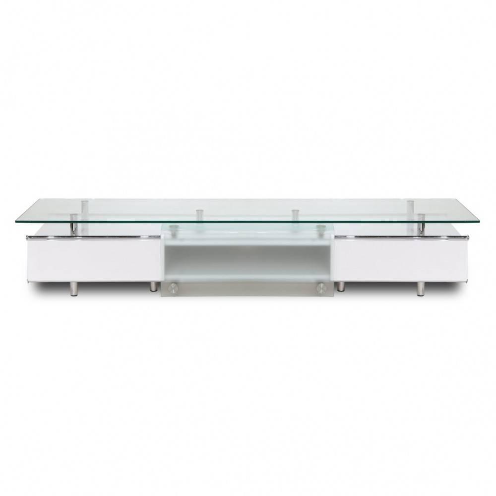 Ema High Gloss White Tv Stand, White Line Imports – Modern Manhattan Inside High Gloss White Tv Stands (View 3 of 15)