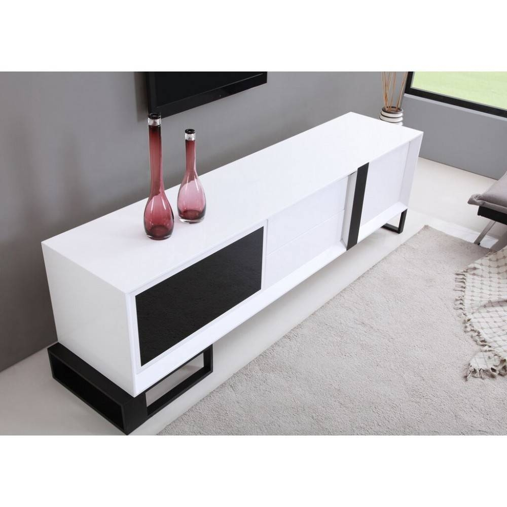 Entertainer Tv Stand | High Gloss White, B Modern – Modern Manhattan Inside High Gloss White Tv Stands (View 7 of 15)