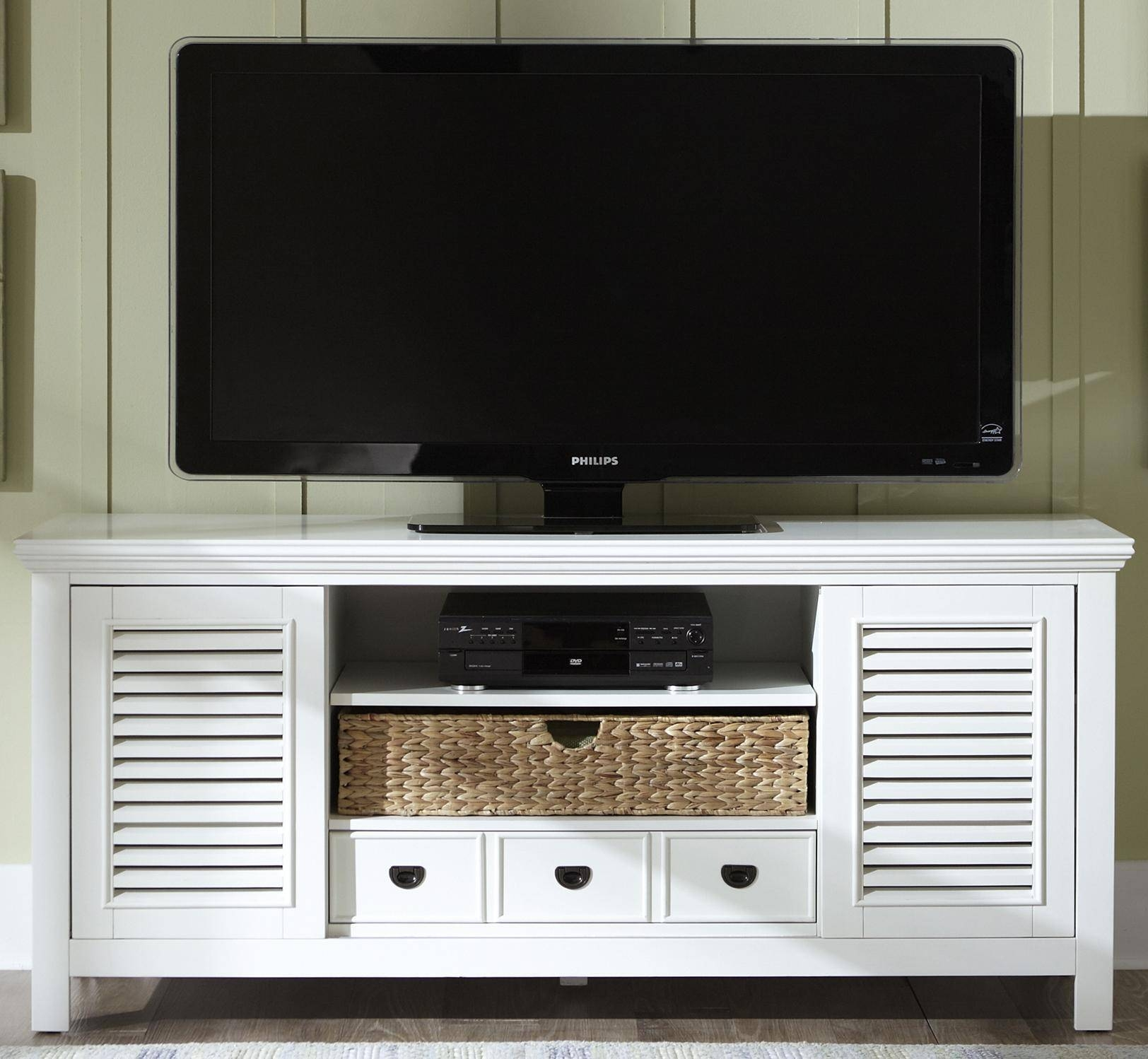 Entertainment Tv Stand With Drawer, Sliding Doors, And Adjustable Throughout Tv Stands With Drawers And Shelves (View 5 of 15)