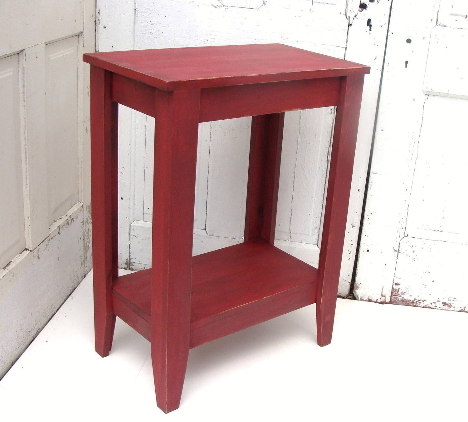 Entryway Table Side Table Console Table Rustic in Red Sofa Tables (Image 1 of 15)