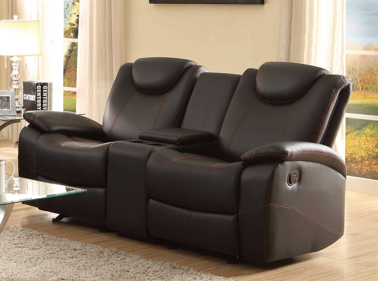 Epic Reclining Loveseat With Center Console 29 For Your Sofas And With Sofas With Console (View 4 of 15)