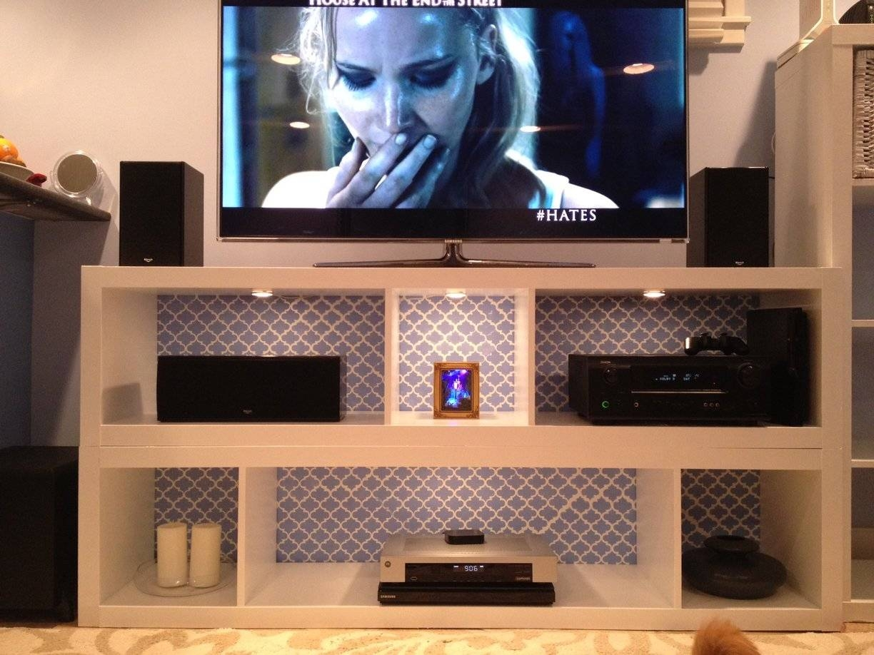 Expedit Bookshelves To Fabulous Tv Stand! – Ikea Hackers – Ikea Inside Tv Stands And Bookshelf (View 11 of 15)