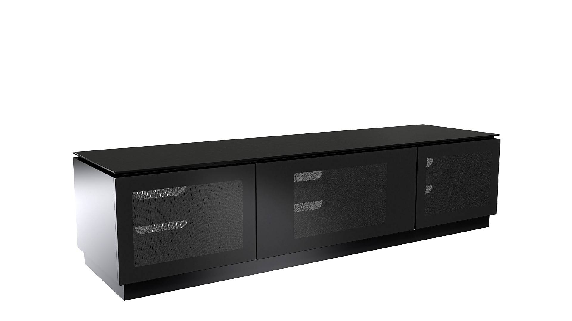 """Extra Large Black Gloss Tv Cabinet Up To 80"""" Tv 