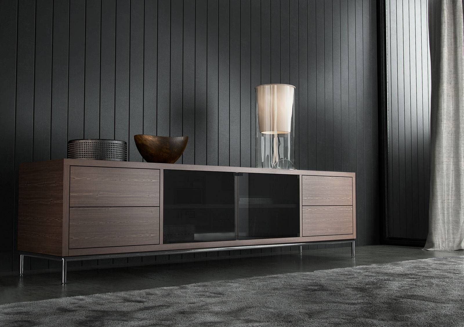 Extra Long Contemporary Tv Entertainment Unit With Storage San throughout Extra Long Tv Stands (Image 3 of 15)