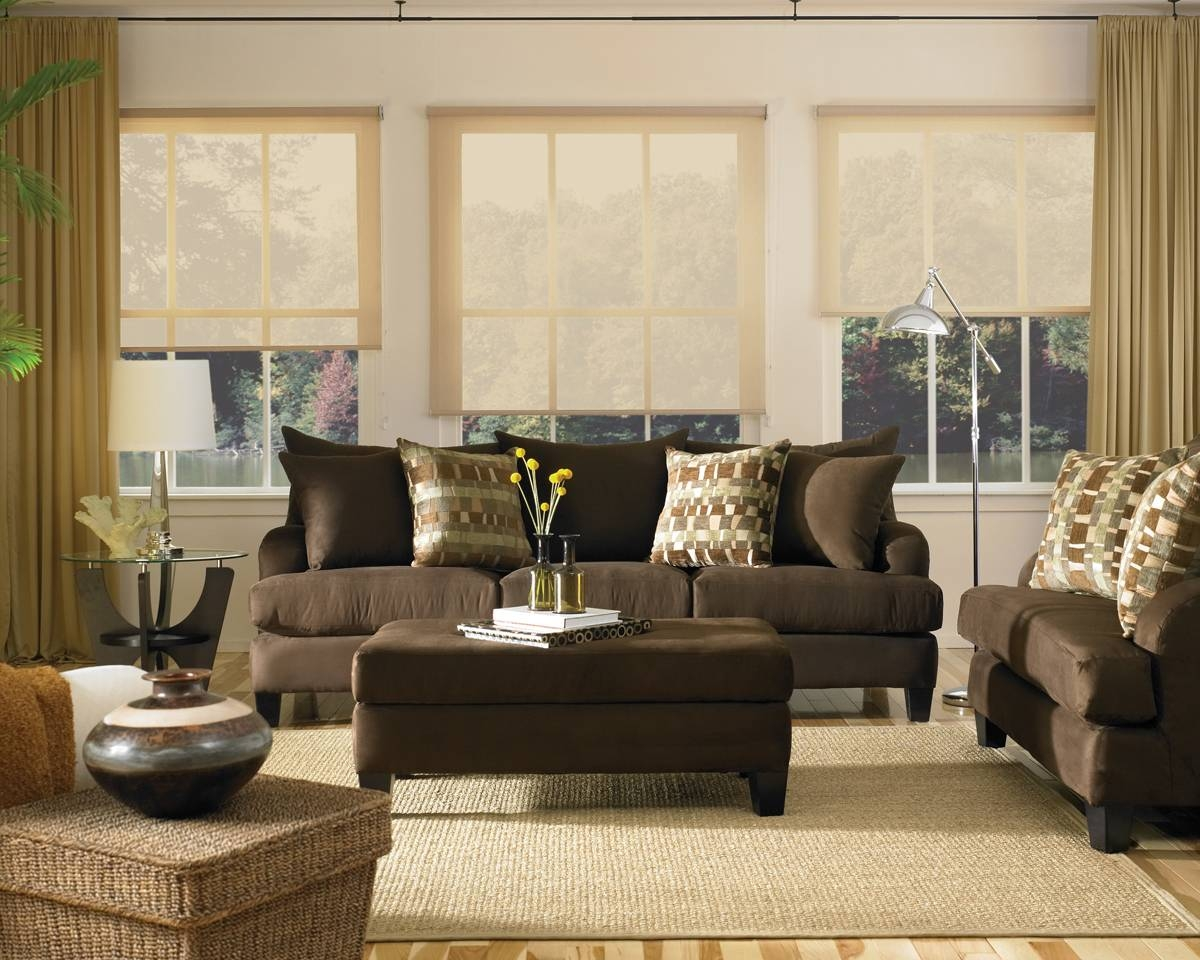 Extraordinary Living Room Ideas Brown Sofa Decor Couches Houzz intended for  Brown Sofa Decors (Image