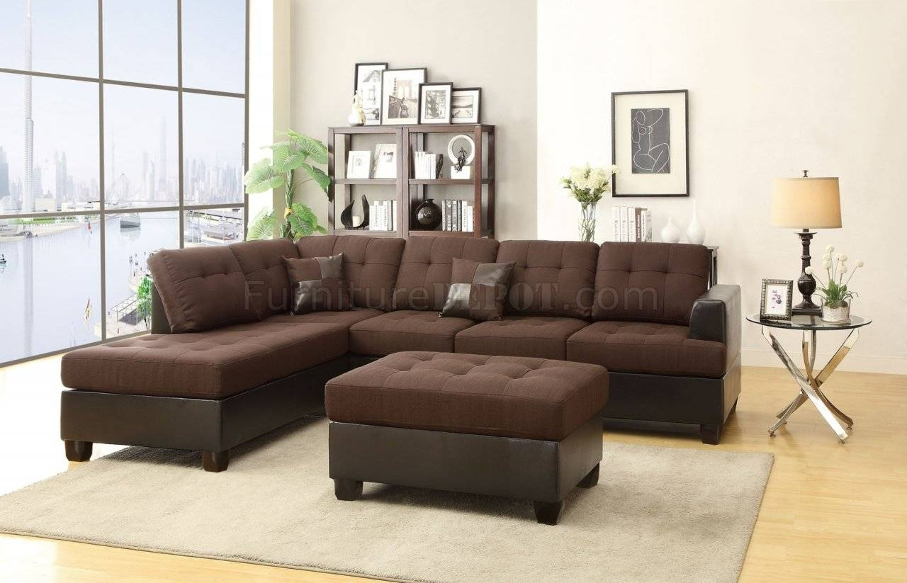 Fabric Sectionals - Microfiber Sectional Sofas, Microsuede within Microfiber Sectional Sofas (Image 6 of 15)
