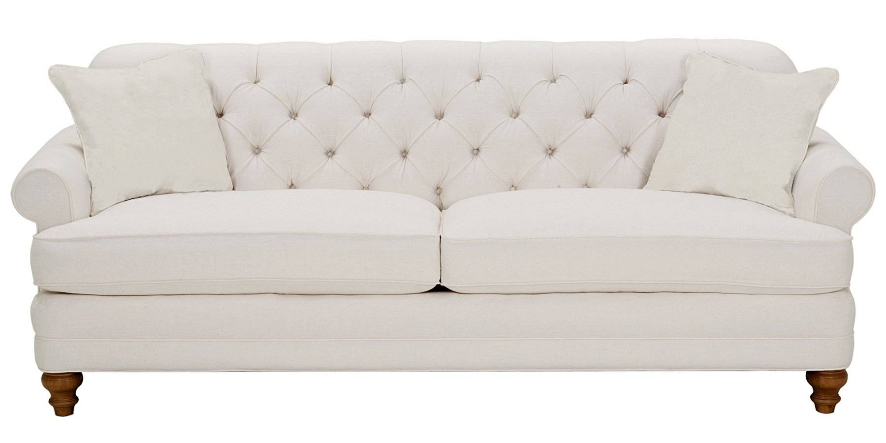 Fabric Upholstered Rolled Arm Button-Back Sofa Set | Club Furniture within Tufted Sleeper Sofas (Image 4 of 15)