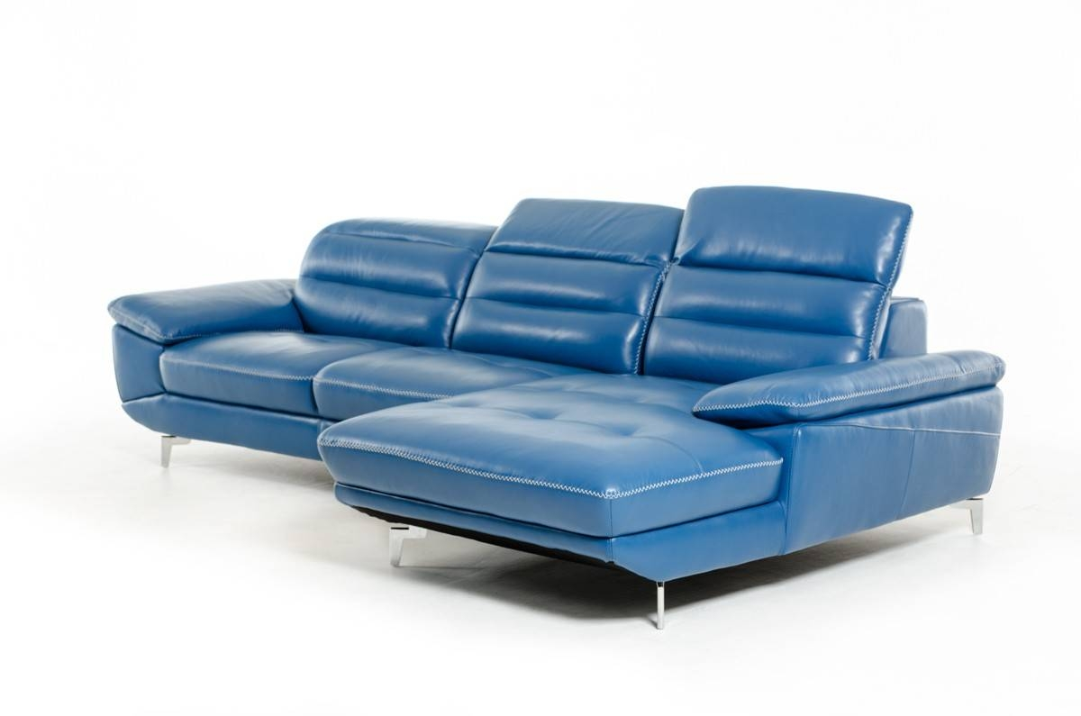Fancy Blue Leather Sofa Bed 73 For Home Design Ideas With Blue pertaining to Blue Leather Sectional Sofas (Image 7 of 15)