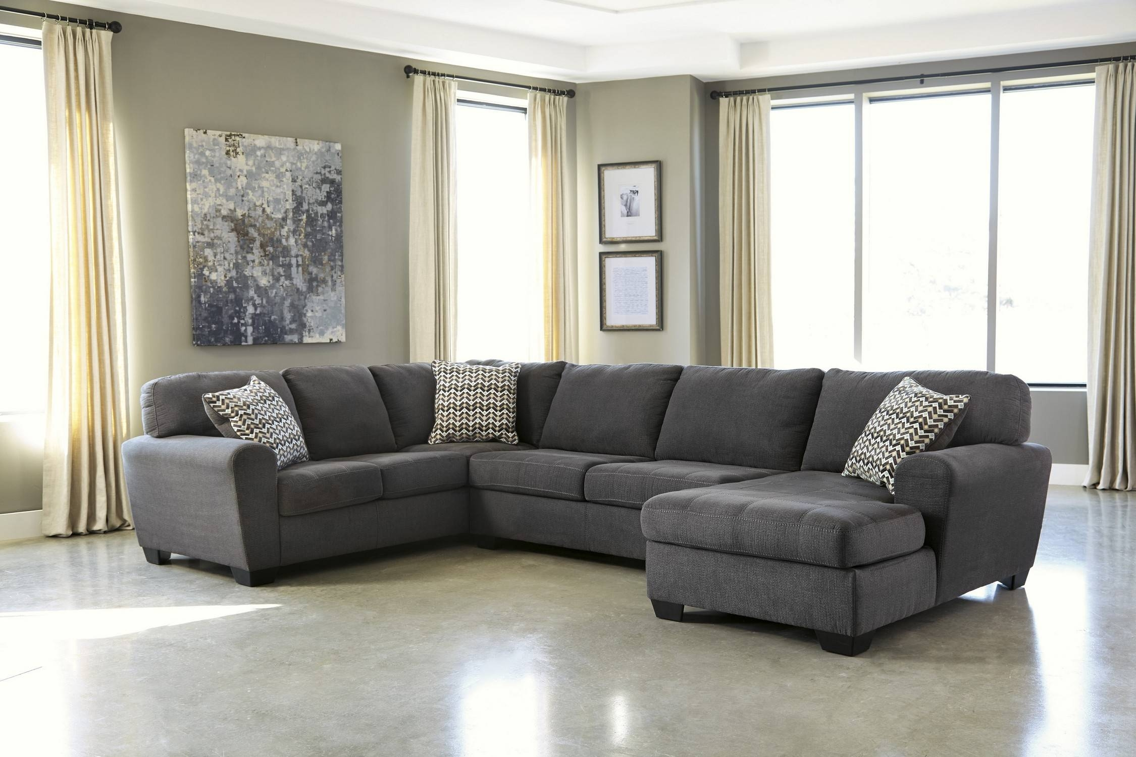 Fancy Charcoal Gray Sectional Sofa 35 In Sofa Table Ideas With with regard to Charcoal Gray Sectional Sofas (Image 4 of 15)