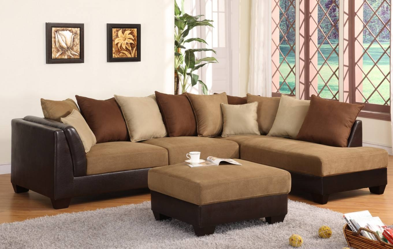 Fancy Dark Brown Sectional Couch 97 With Additional Sofas And in Microfiber Sectional Sofas (Image 7 of 15)