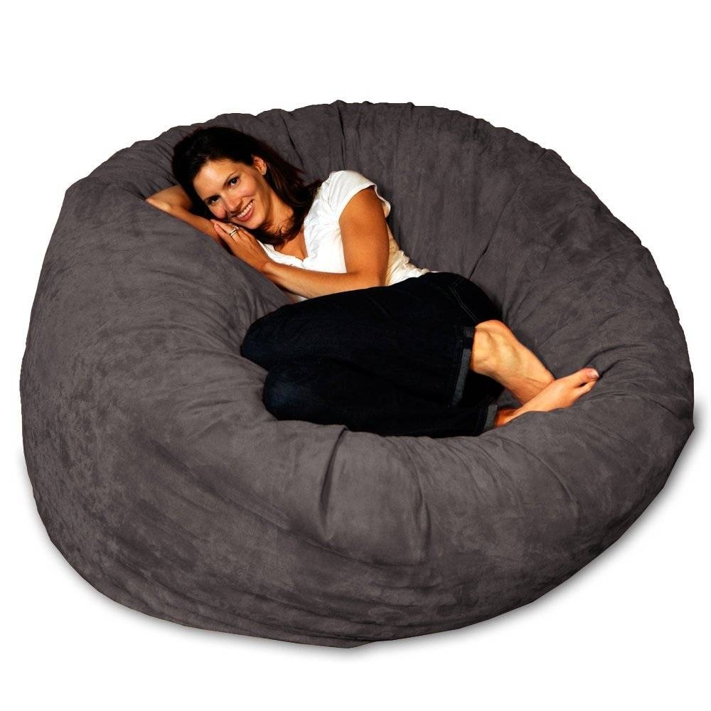 Fancy Giant Bean Bag Chair Lounger For Your Modern Furniture With regarding Giant Bean Bag Chairs (Image 4 of 15)