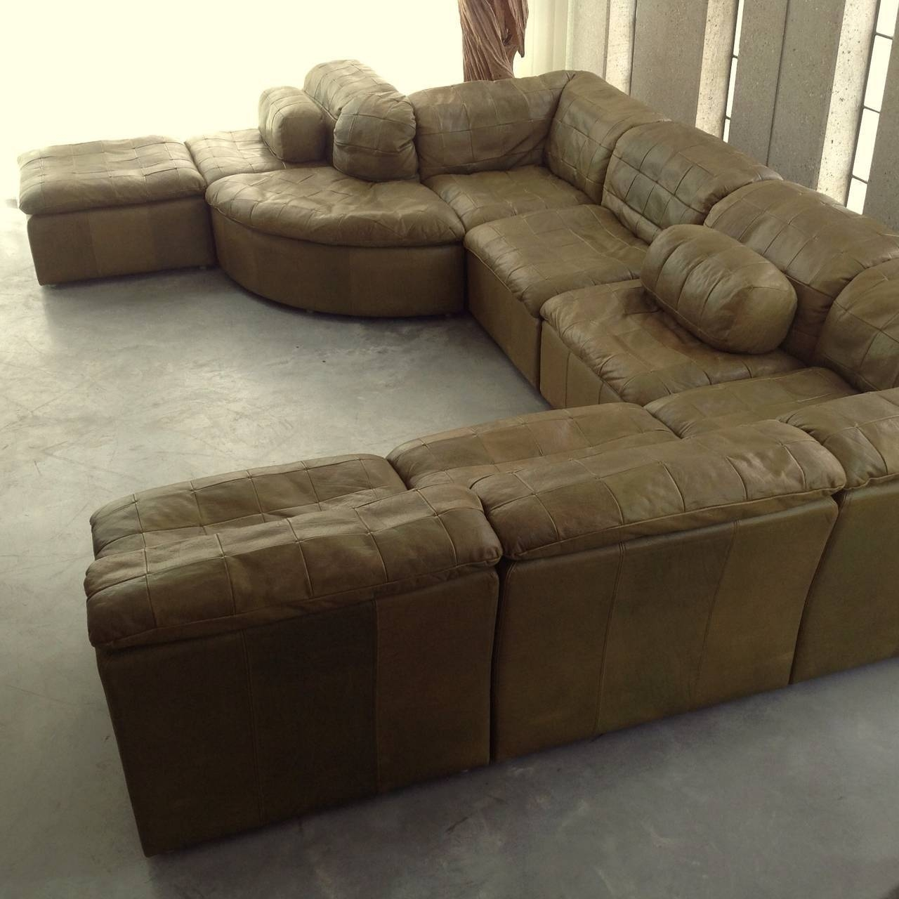 Fancy Green Leather Sofa 36 On Sofas And Couches Ideas With Green with Green Leather Sectional Sofas (Image 3 of 15)