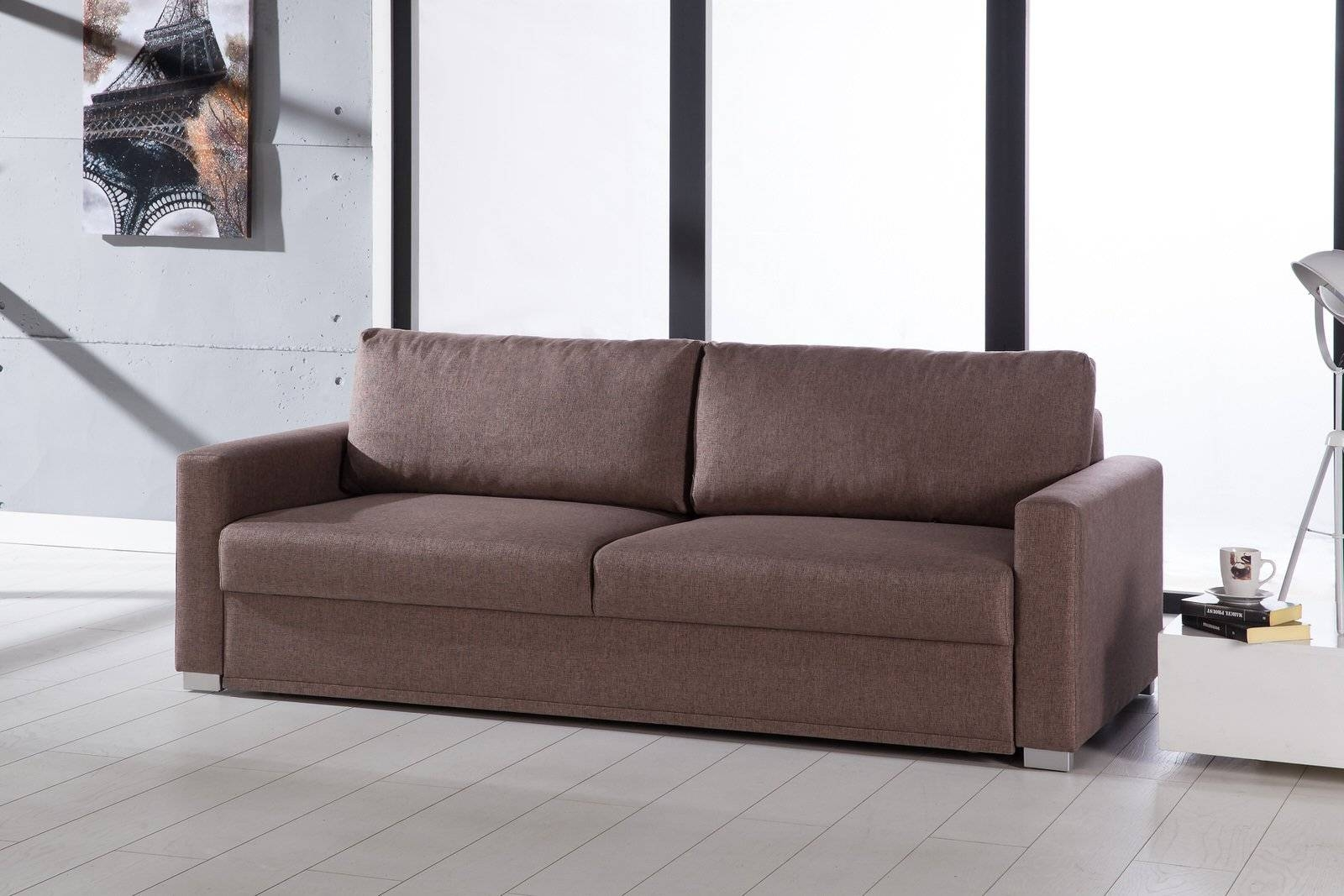 Felix Diego Light Brown Convertible Sofa Bedsunset regarding Convertible Queen Sofas (Image 5 of 15)