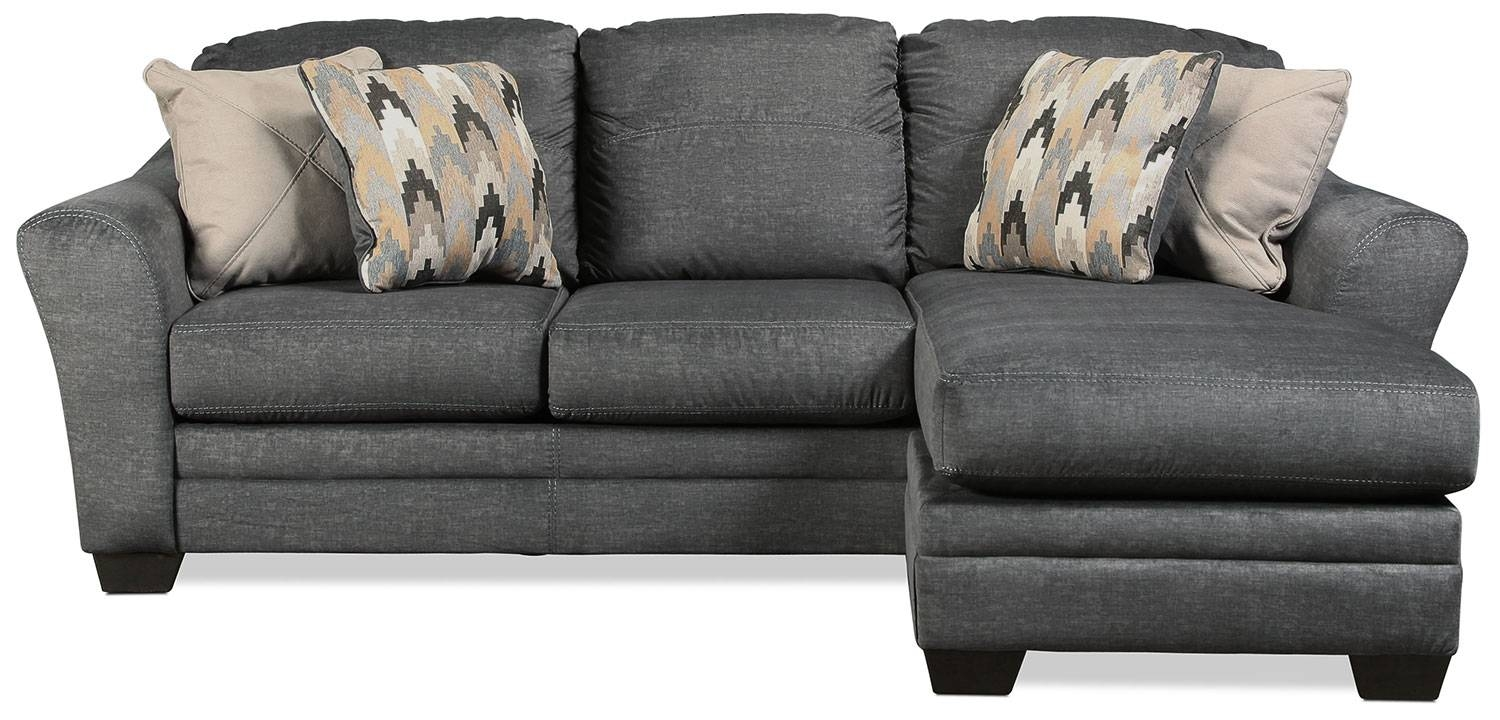 Ferron Chaise Sofa - Charcoal | Levin Furniture throughout Chaise Sofas (Image 8 of 15)
