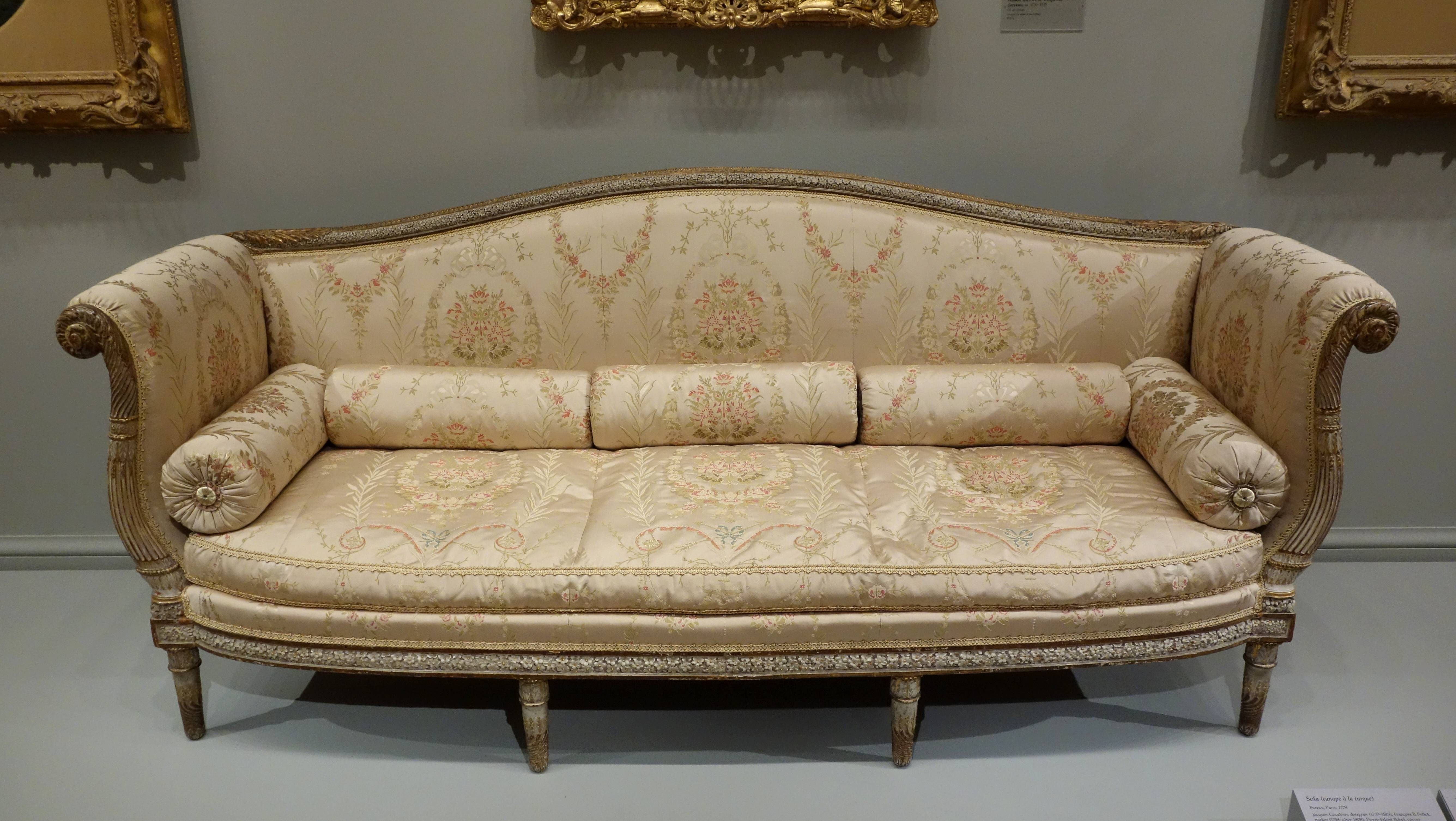 File:sofa For Marie-Antoinette's Private Sitting Room At pertaining to Antoinette Sofas (Image 8 of 15)