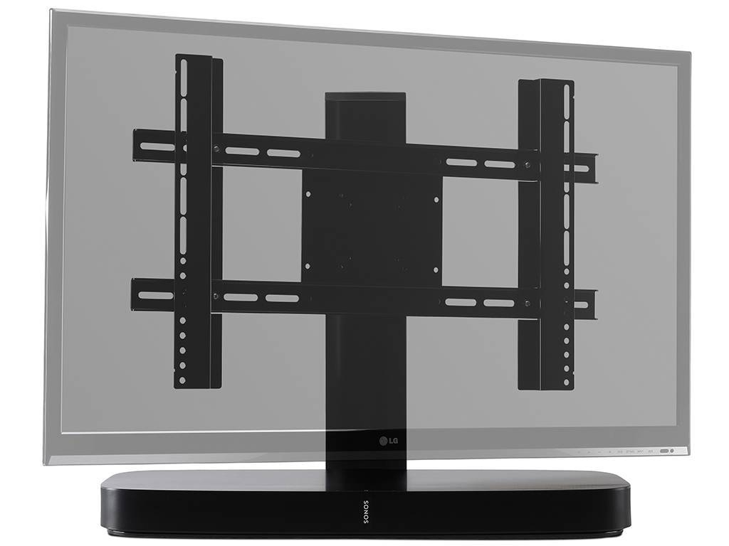 Flexson Adjustable Tv Stand For Sonos Playbase Black | Wifimedia Intended For Sonos Tv Stands (View 3 of 15)