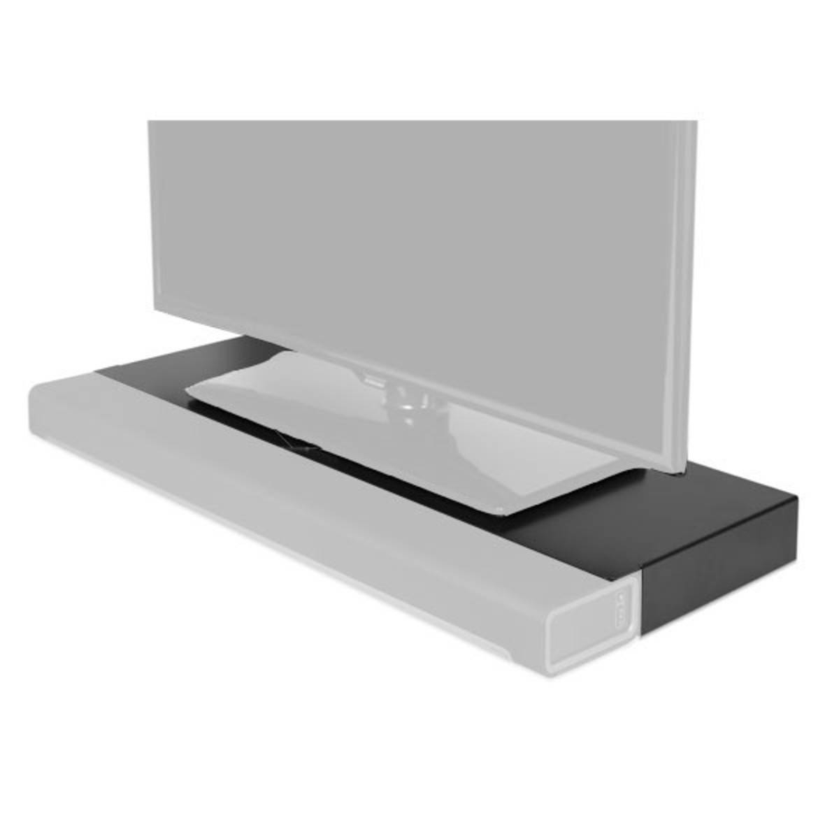 Flexson Tv Stand For Sonos Playbar, Black At Gear4Music With Regard To Sonos Tv Stands (View 7 of 15)