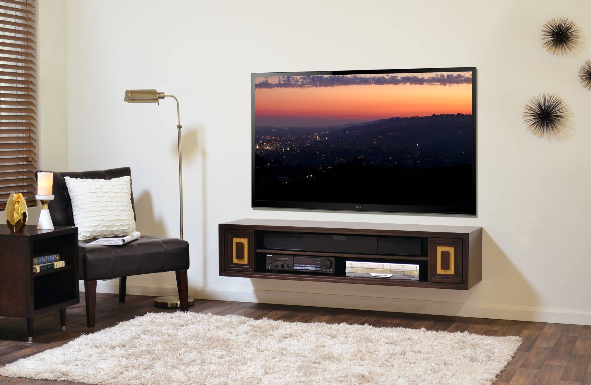 Floating Media Console: A Way To Display Your Tv With Pride for Single Shelf Tv Stands (Image 4 of 15)
