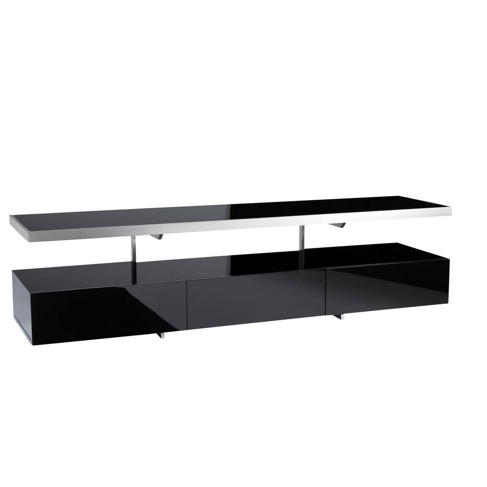 Floating Shelf Tv Unit Black - Dwell intended for Black Tv Cabinets With Doors (Image 8 of 15)