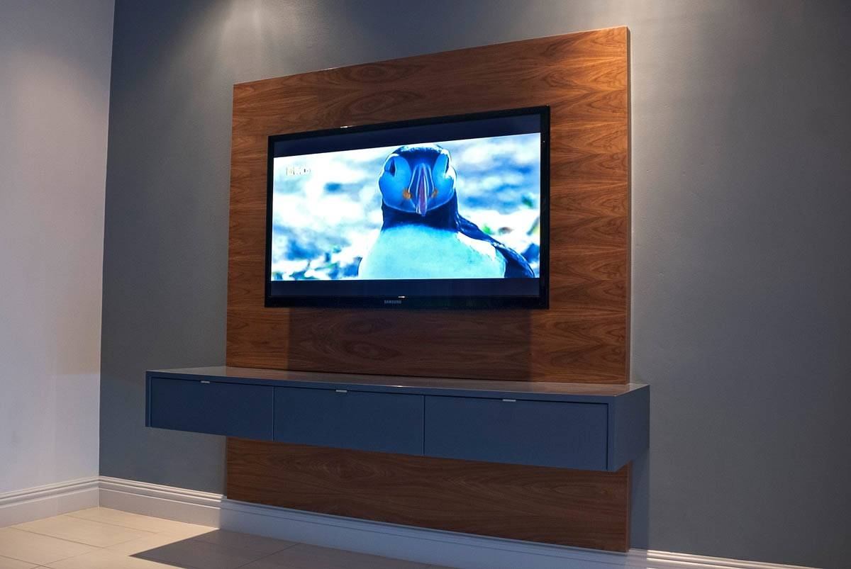 Floating Television Unit – Mirror Edge Networks In Floating Tv Cabinet (View 3 of 15)
