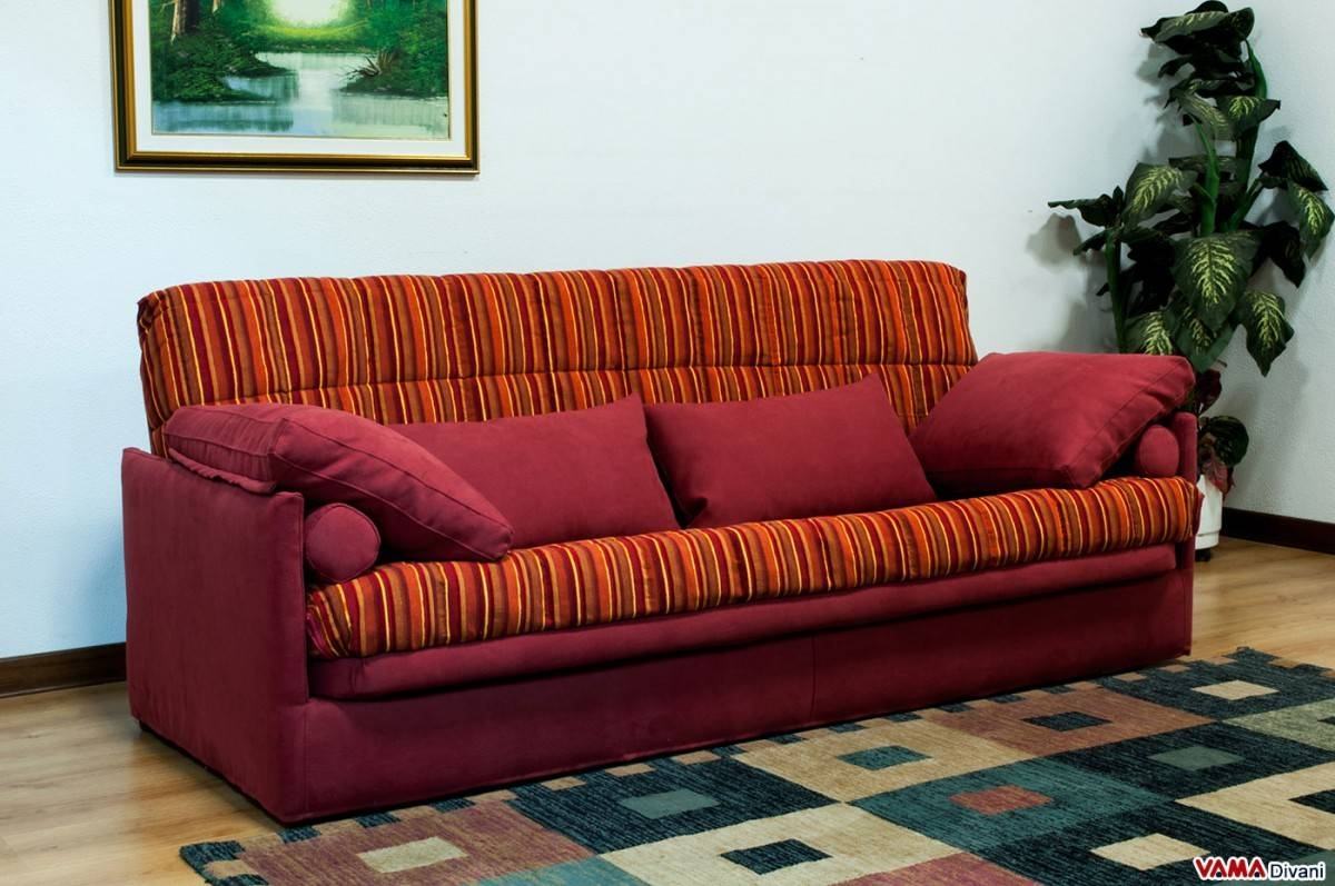 Fold-Down Sofa Bed With Slatted Base with regard to Clic Clac Sofa Beds (Image 8 of 15)