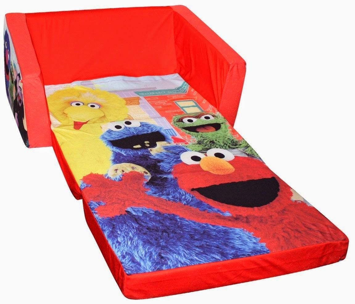 Fold Out Couch: Toddler Fold Out Couch throughout Elmo Flip Open Sofas (Image 5 of 15)