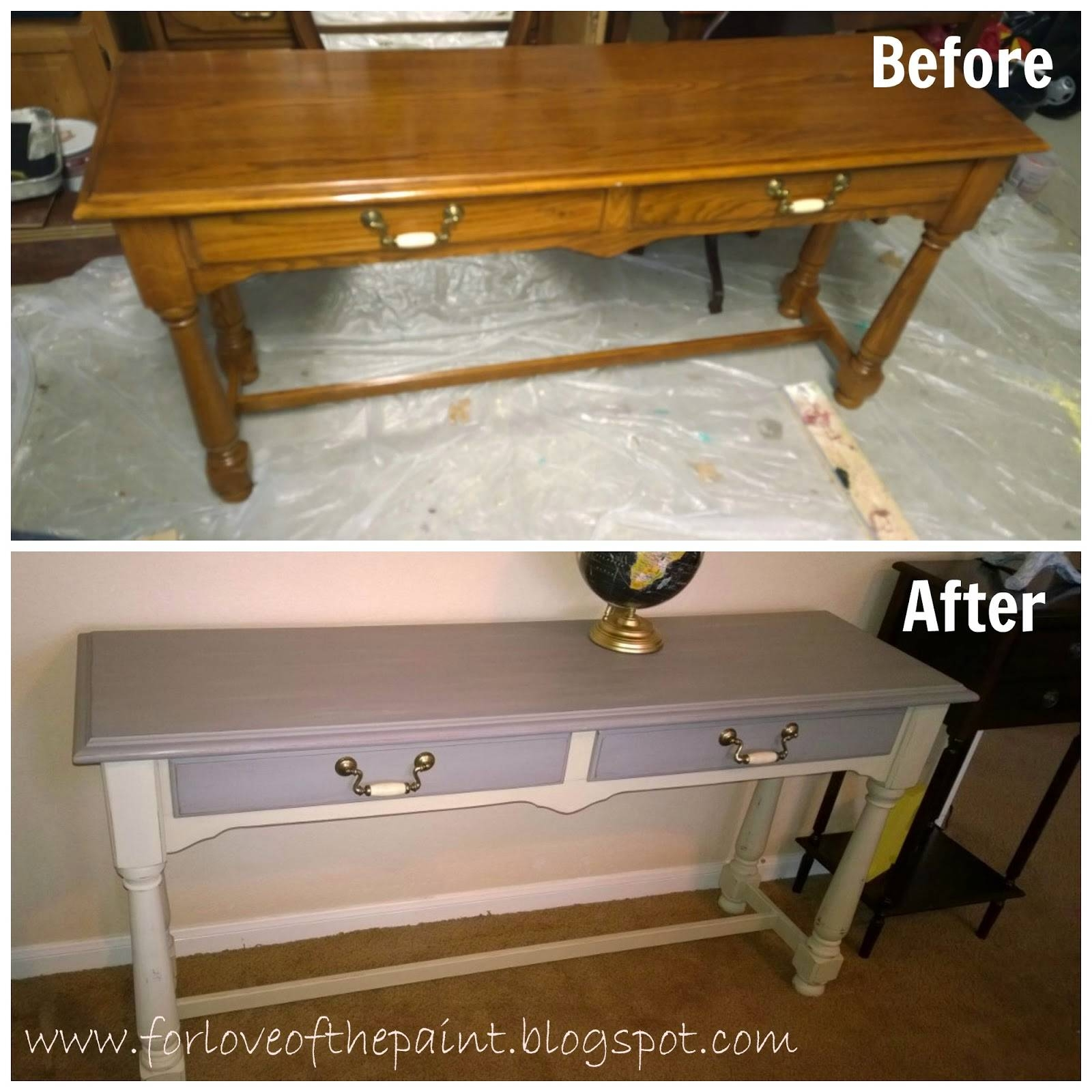 For Love Of The Paint: Before And After : Thomasville Sofa Table pertaining to Shabby Chic Sofa Tables (Image 7 of 15)