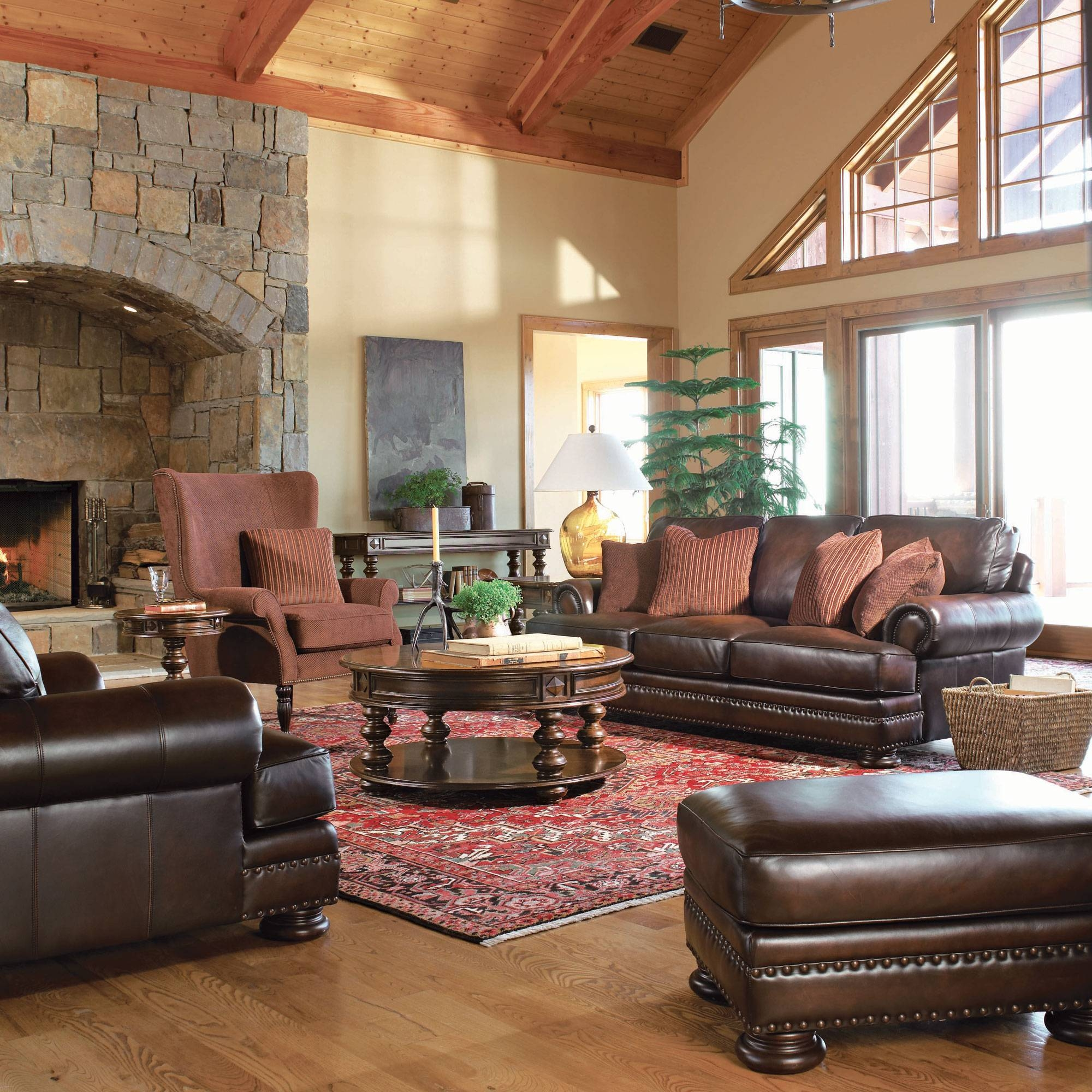 Foster Living Room | Bernhardt intended for Foster Leather Sofas (Image 12 of 15)