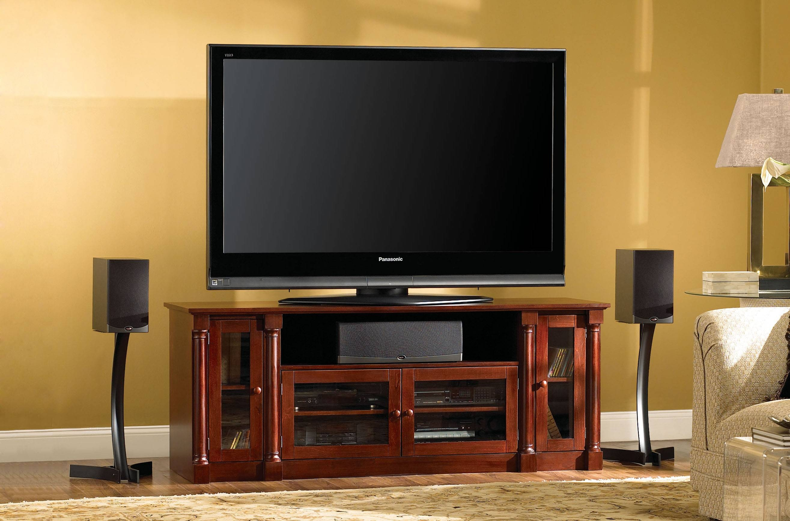 Popular Photo of Cherry Wood Tv Stands