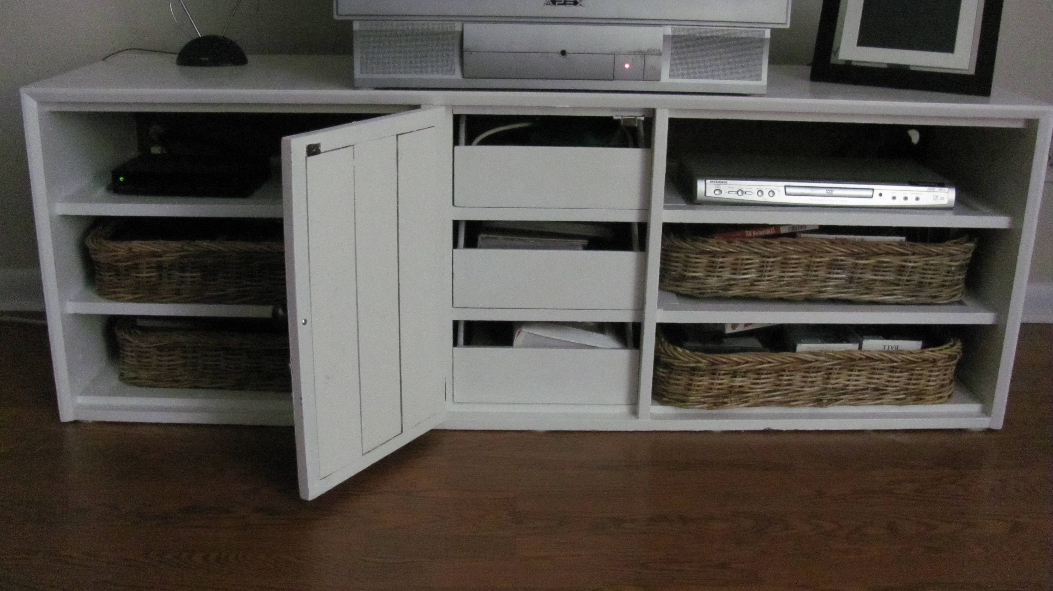 From Dresser To Tv Stand | Sijolie for Tv Stands With Baskets (Image 4 of 15)