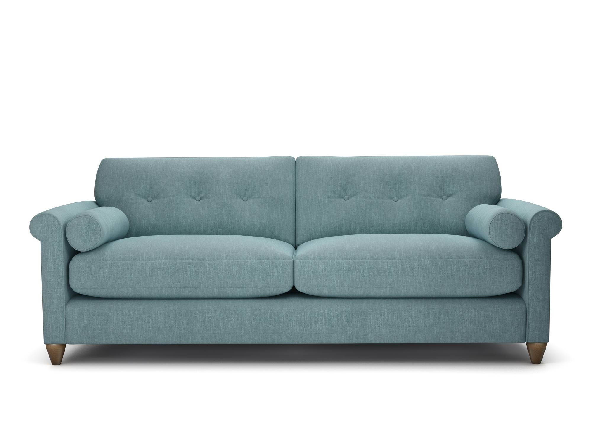 Furniture: Ava Velvet Tufted Sleeper Sofa | Tufted Sleeper Sofa within Ava Tufted Sleeper Sofas (Image 3 of 15)
