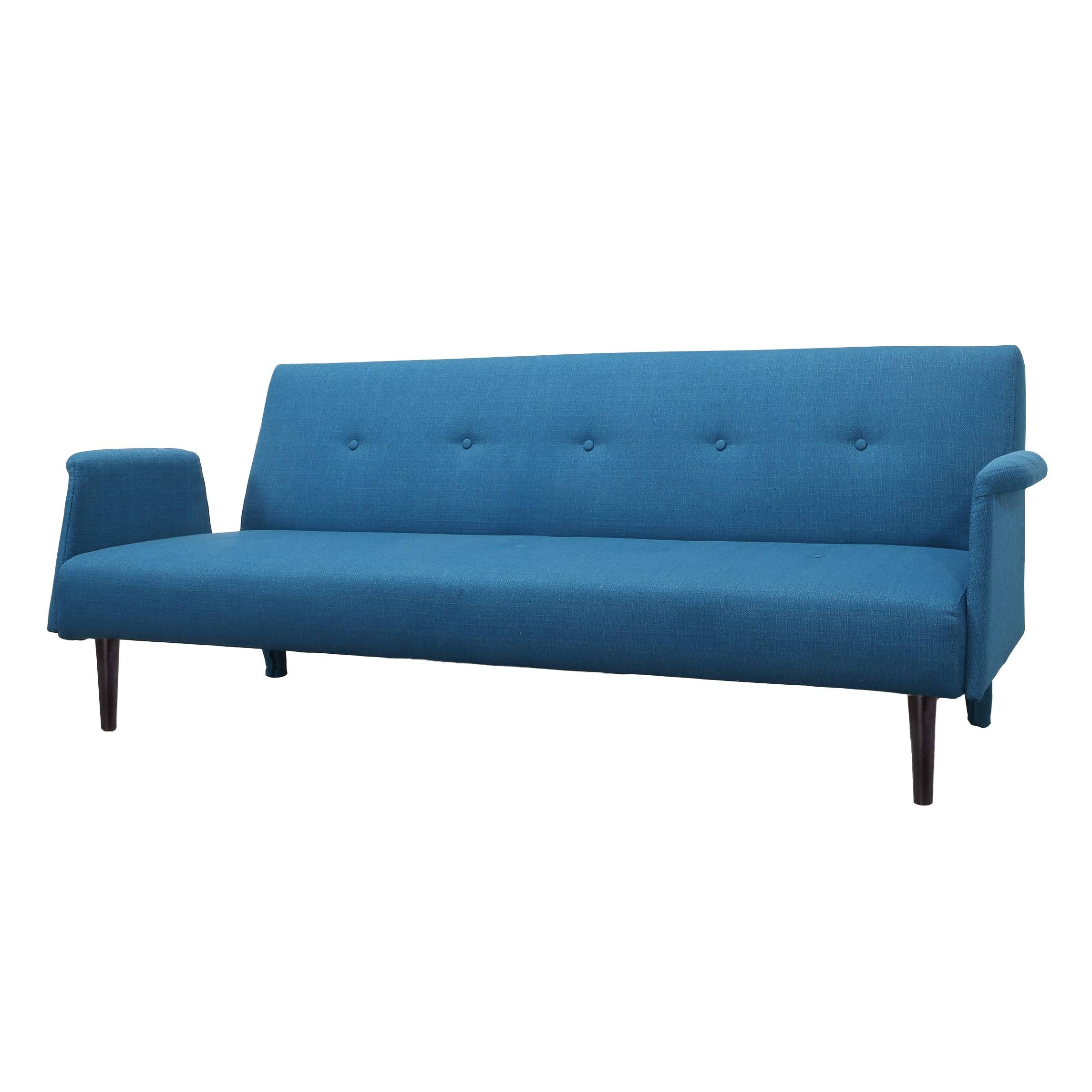 Furniture: Ava Velvet Tufted Sleeper Sofa | Walmart Sofa Sleeper with regard to Ava Tufted Sleeper Sofas (Image 4 of 15)