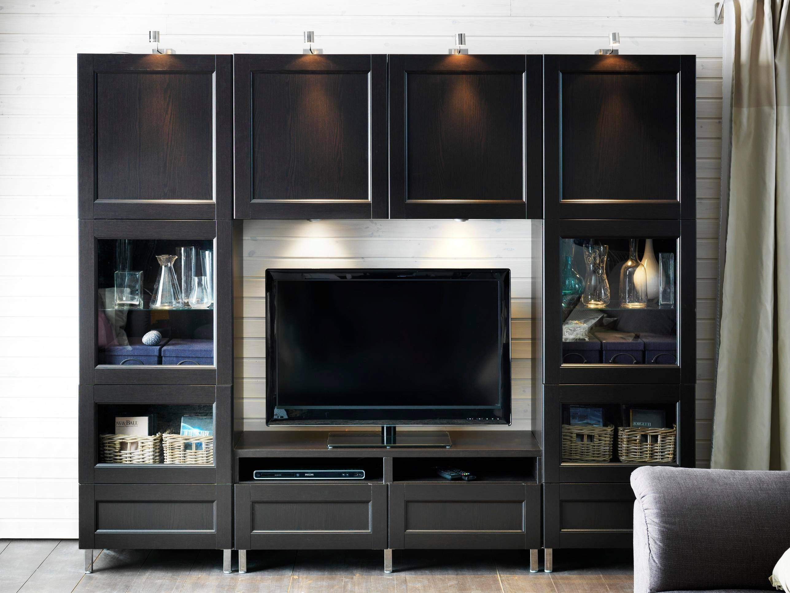Furniture Awesome Design For Living Room Wall Cabinet Designs Pertaining To Tv Cabinets With Storage (View 10 of 15)