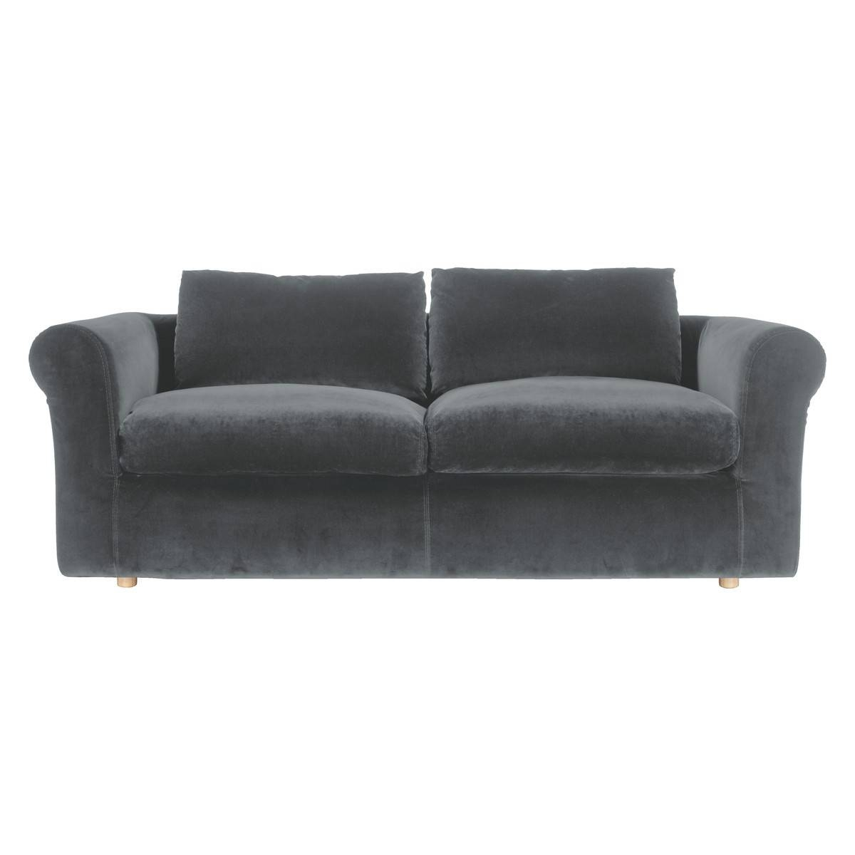 Furniture: Best Quality Grey Velvet Sofa For Your Living Room with Small Grey Sofas (Image 4 of 15)