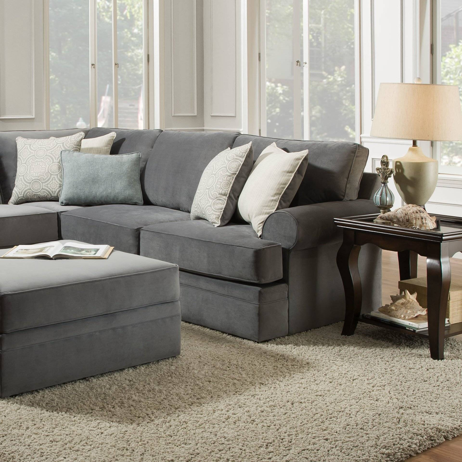 Furniture: Bonded Leather Sectional | Simmons Sectional | Big Lots with Big Lots Simmons Sectional Sofas (Image 3 of 15)