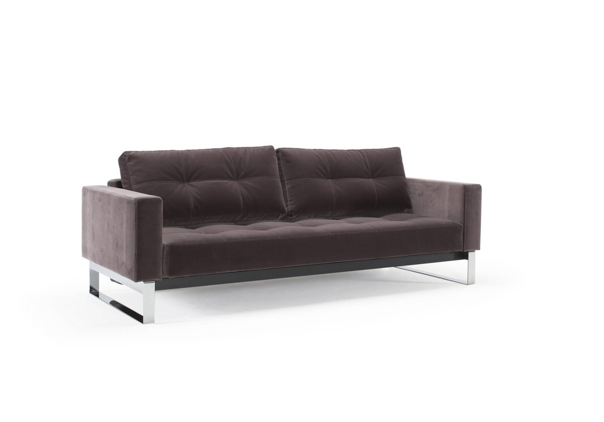 Furniture: Breathtaking Grey Velvet Sofa For Charming Home intended for Sofas With Chrome Legs (Image 10 of 15)