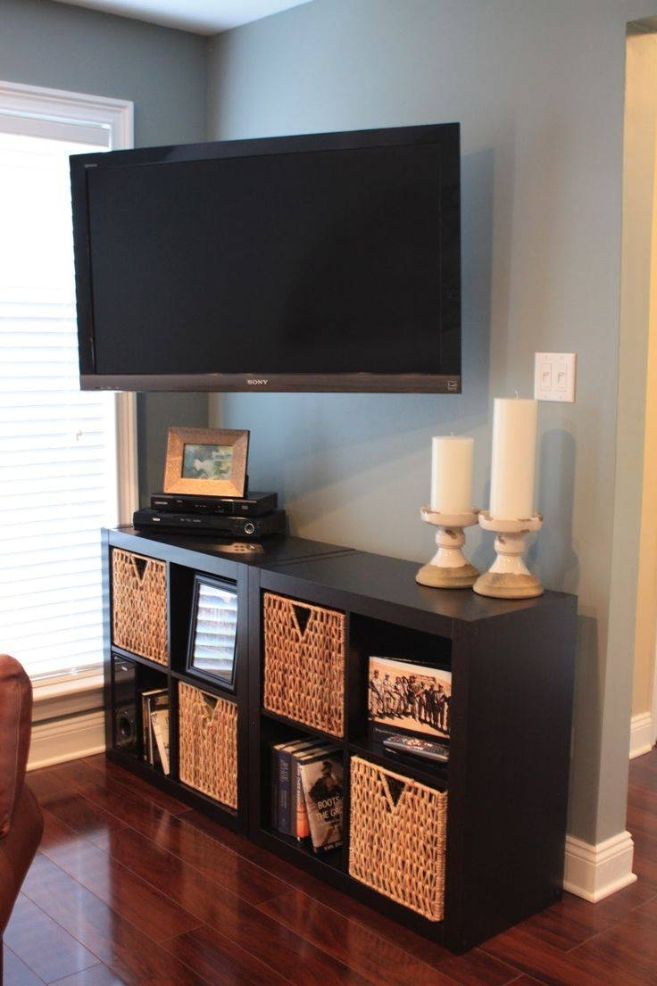 Furniture: Candle Stick Holders And Corner Tv Stand Ikea With Regarding Tv Stands With Storage Baskets (View 4 of 15)