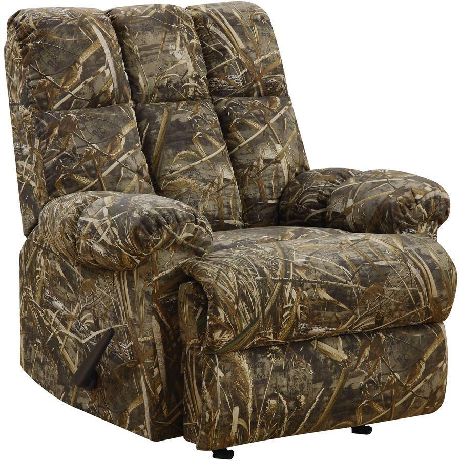 Furniture: Childrens Camo Chair | Max 4 Camo Couch | Mossy Oak regarding Camo Reclining Sofas (Image 9 of 15)
