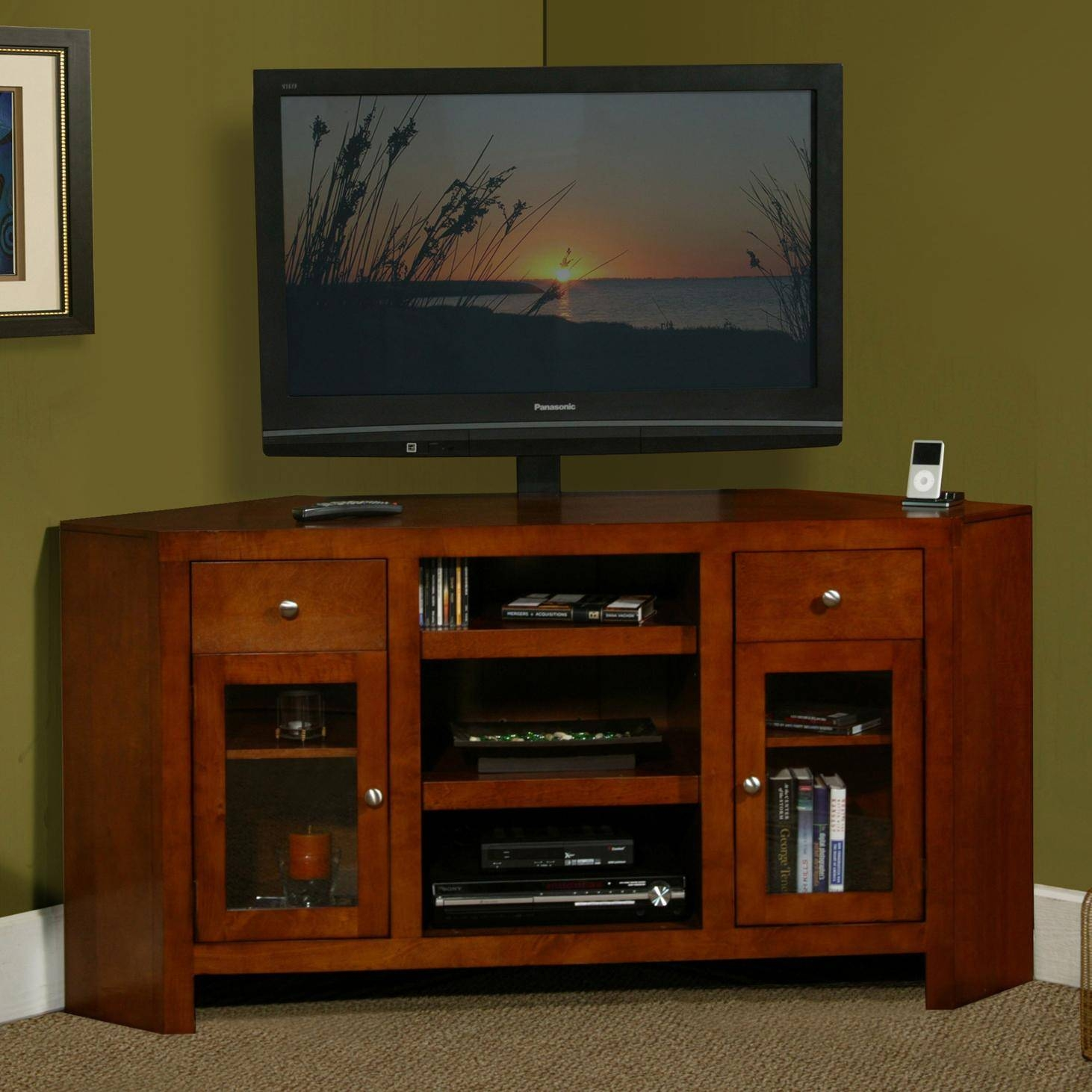 Furniture: Classy Design Of Whalen Flat Panel Tv Console For Home Regarding Corner 60 Inch Tv Stands (View 10 of 15)