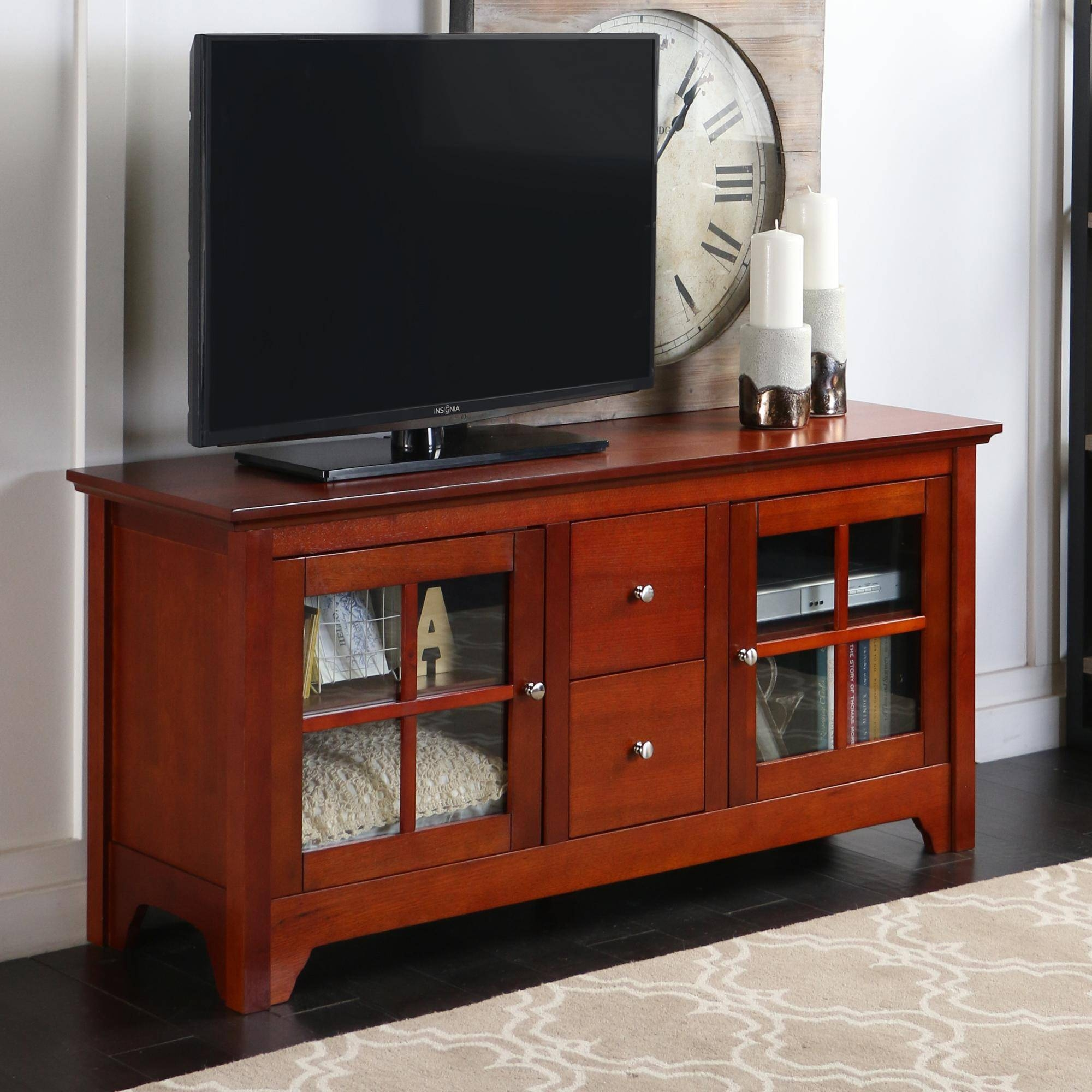 Furniture: Corner Tv Stand Espresso | Cymax Tv Stands | Corner Tv throughout Corner Tv Stands With Drawers (Image 4 of 15)
