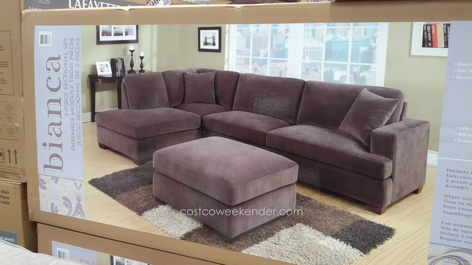 Furniture: Costco Modular Sectional | Sectionals Costco | Costco for Costco Leather Sectional Sofas (Image 3 of 15)