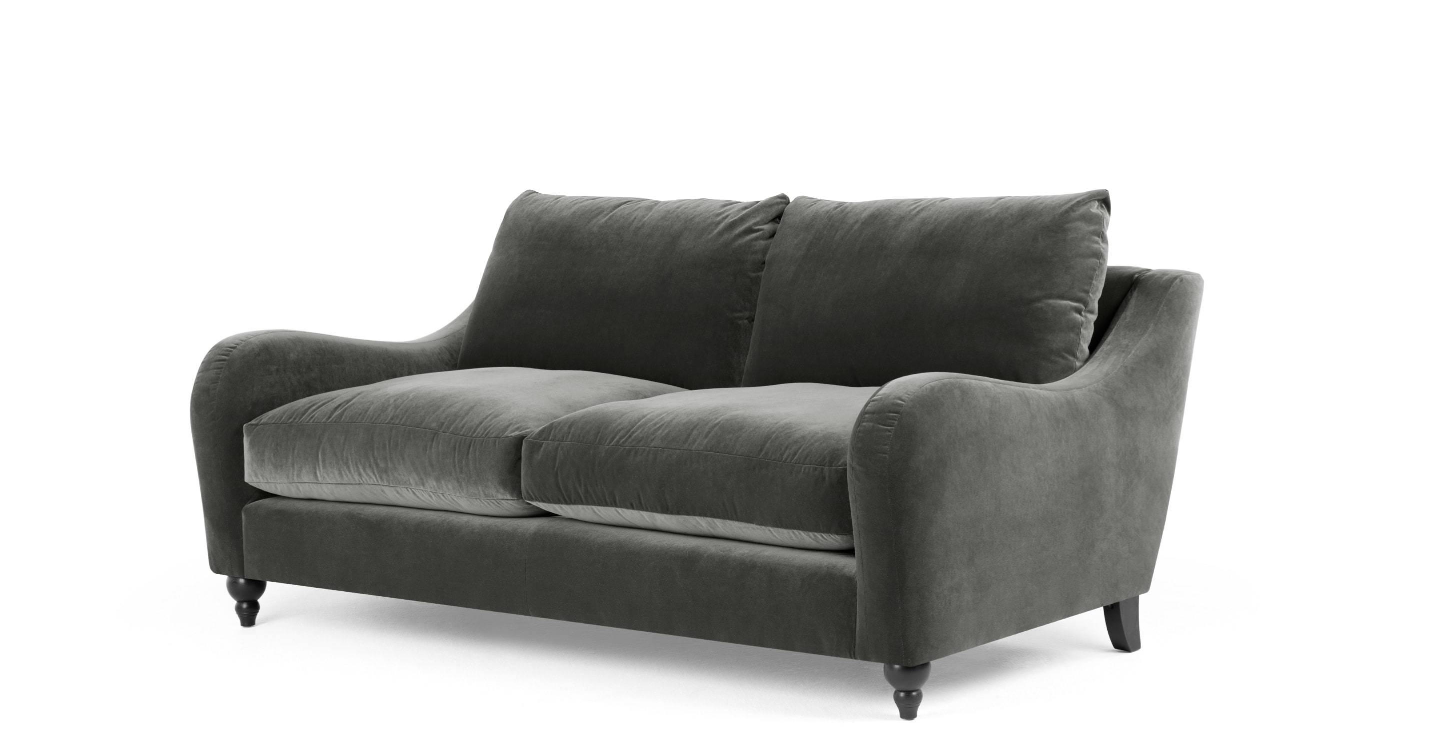 Furniture: Couches Amazon | Grey Velvet Sofa | Armen Living in Barrister Velvet Sofas (Image 14 of 15)