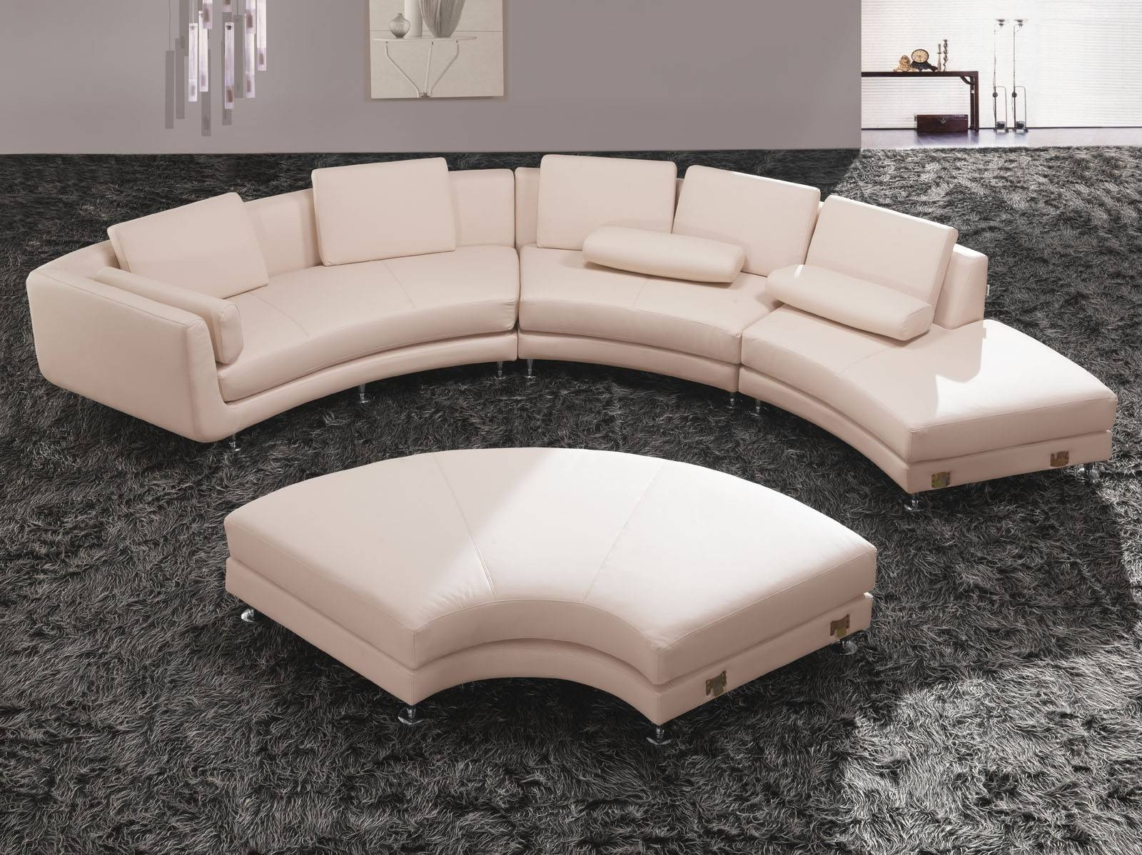 Furniture: Curved Sectional Sofa   Small Curved Couch   Curved throughout Small Curved Sectional Sofas (Image 7 of 15)