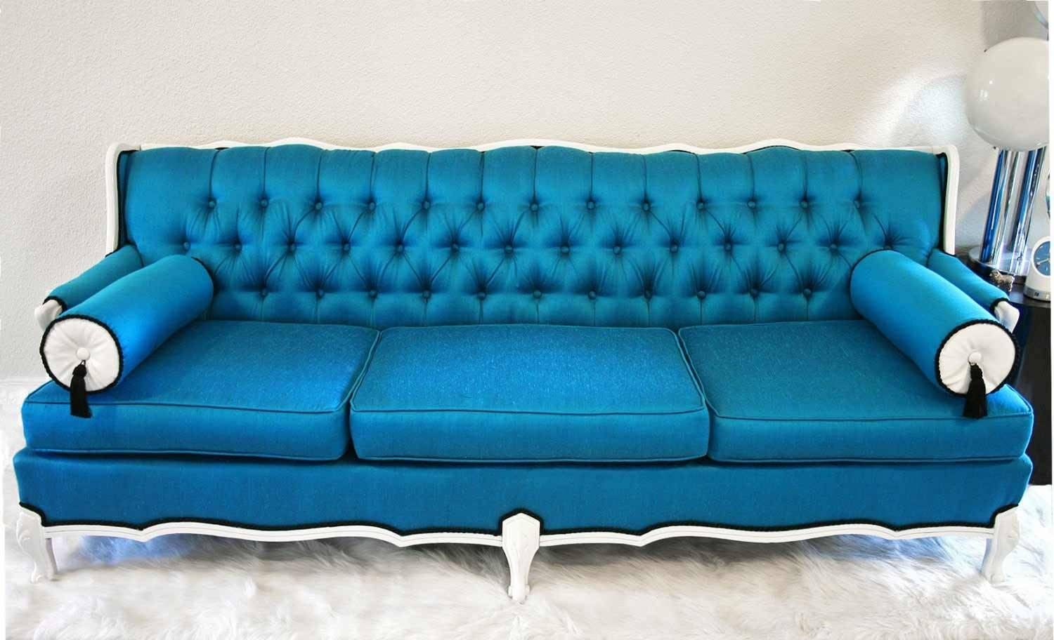 Furniture: Cute Blue Sofa For Home Furniture Design With Blue inside Sky Blue Sofas (Image 7 of 15)