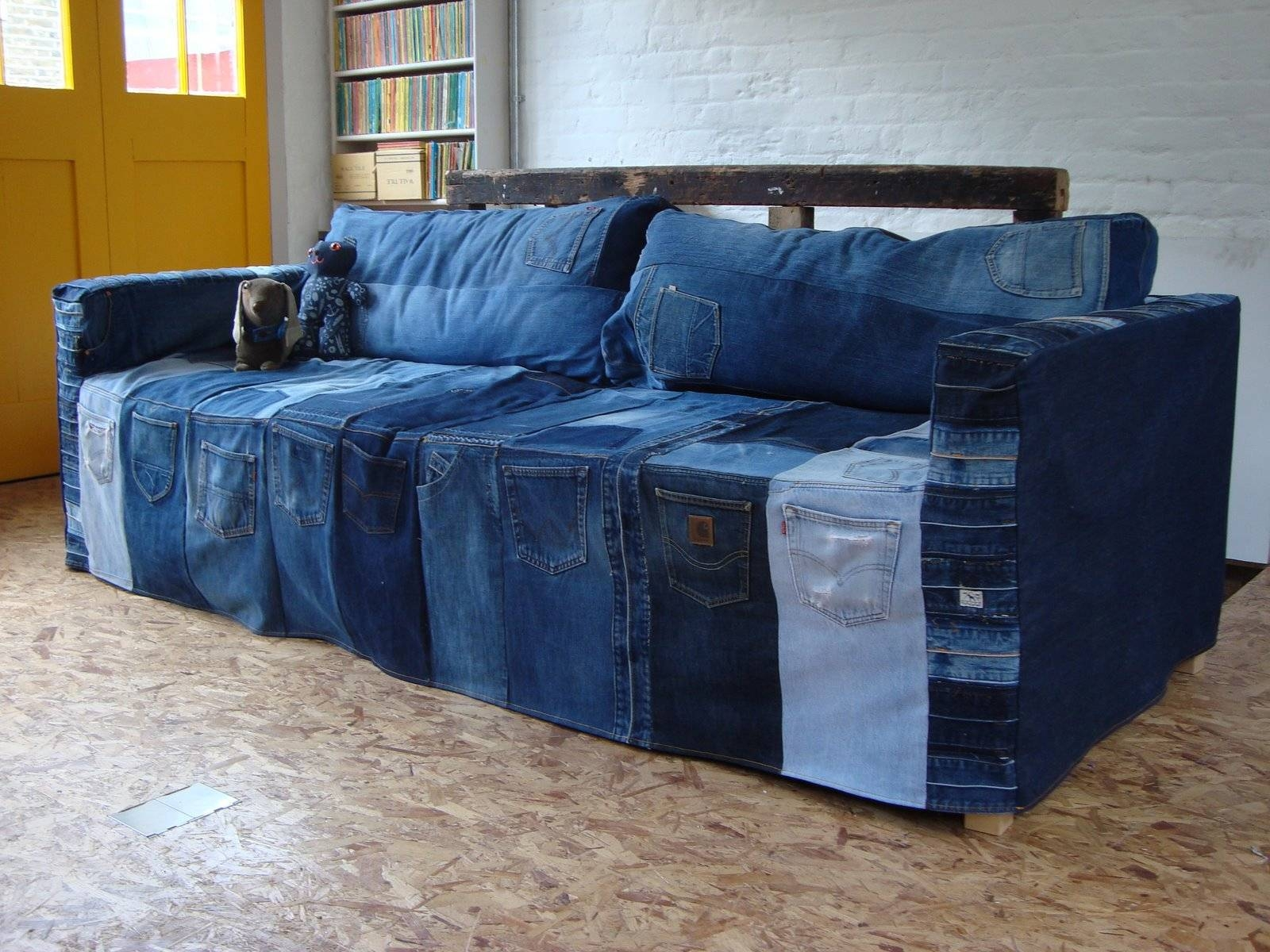 Furniture: Denim Slipcovers For Sofas | Denim Sofa Slipcover | Throughout Blue  Jean Sofas (