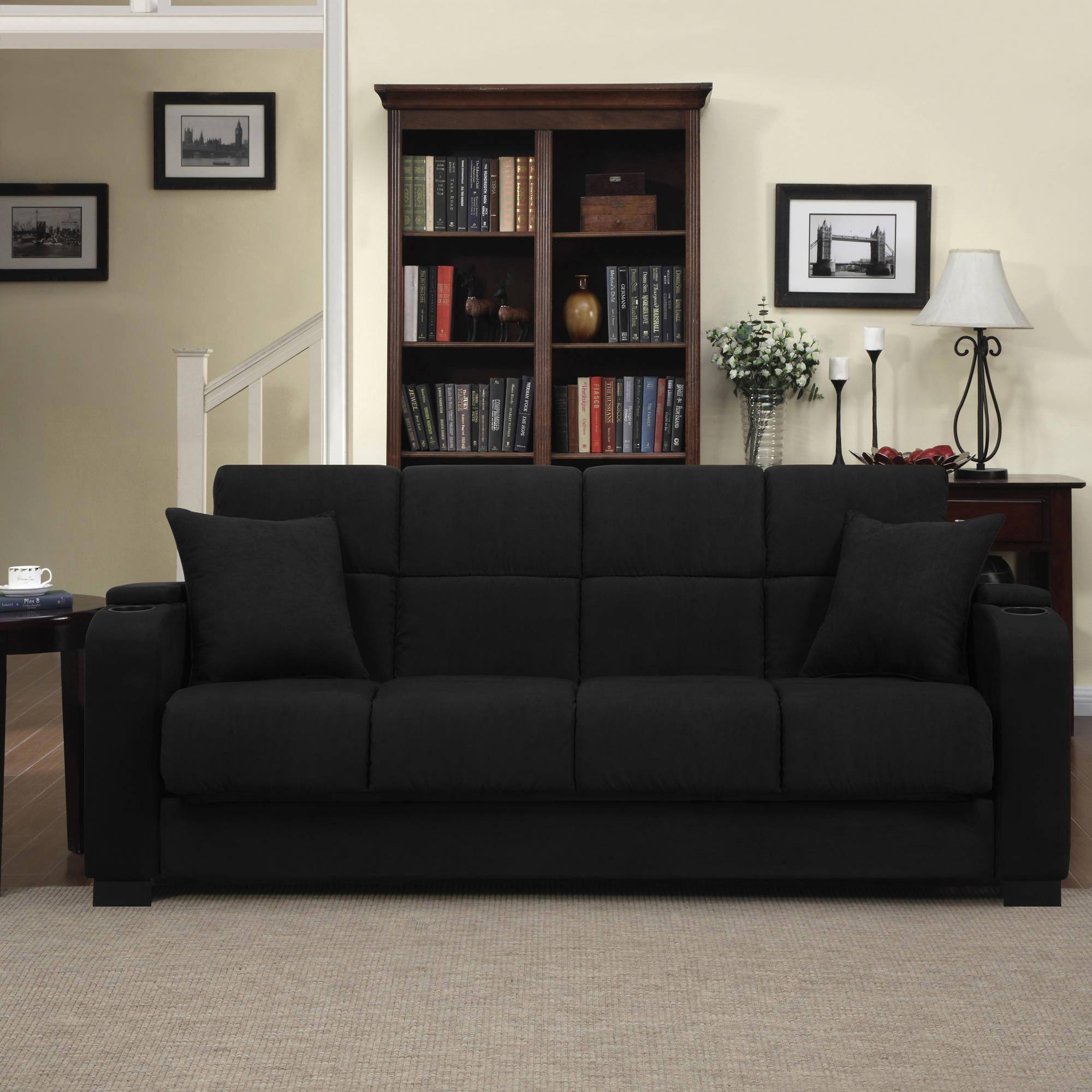Furniture: Elegant Living Room Tufted Sofas Design With Couches with regard to Sofas With Black Cover (Image 8 of 15)