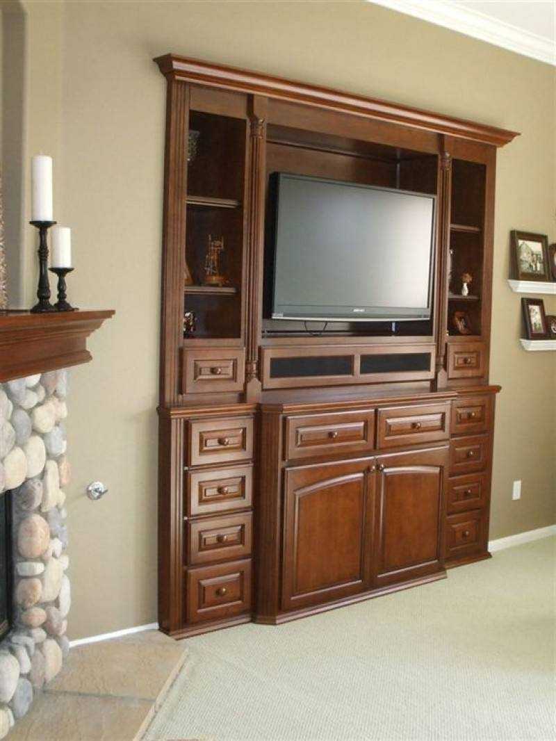 Furniture: Elegant Picture Of Furniture For Small Modern Living inside Cherry Wood Tv Cabinets (Image 8 of 15)