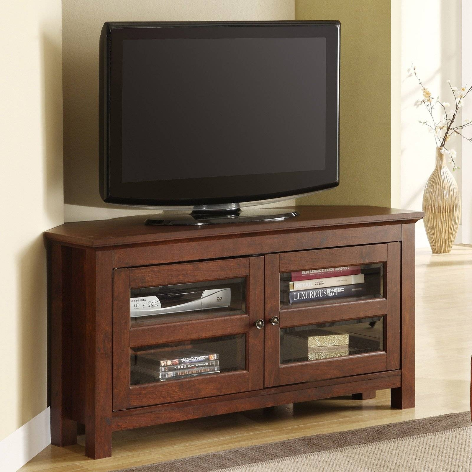 Furniture. Enclosed Tv Cabinets For Flat Screens With Doors In The pertaining to Corner Tv Cabinets For Flat Screens With Doors (Image 7 of 15)