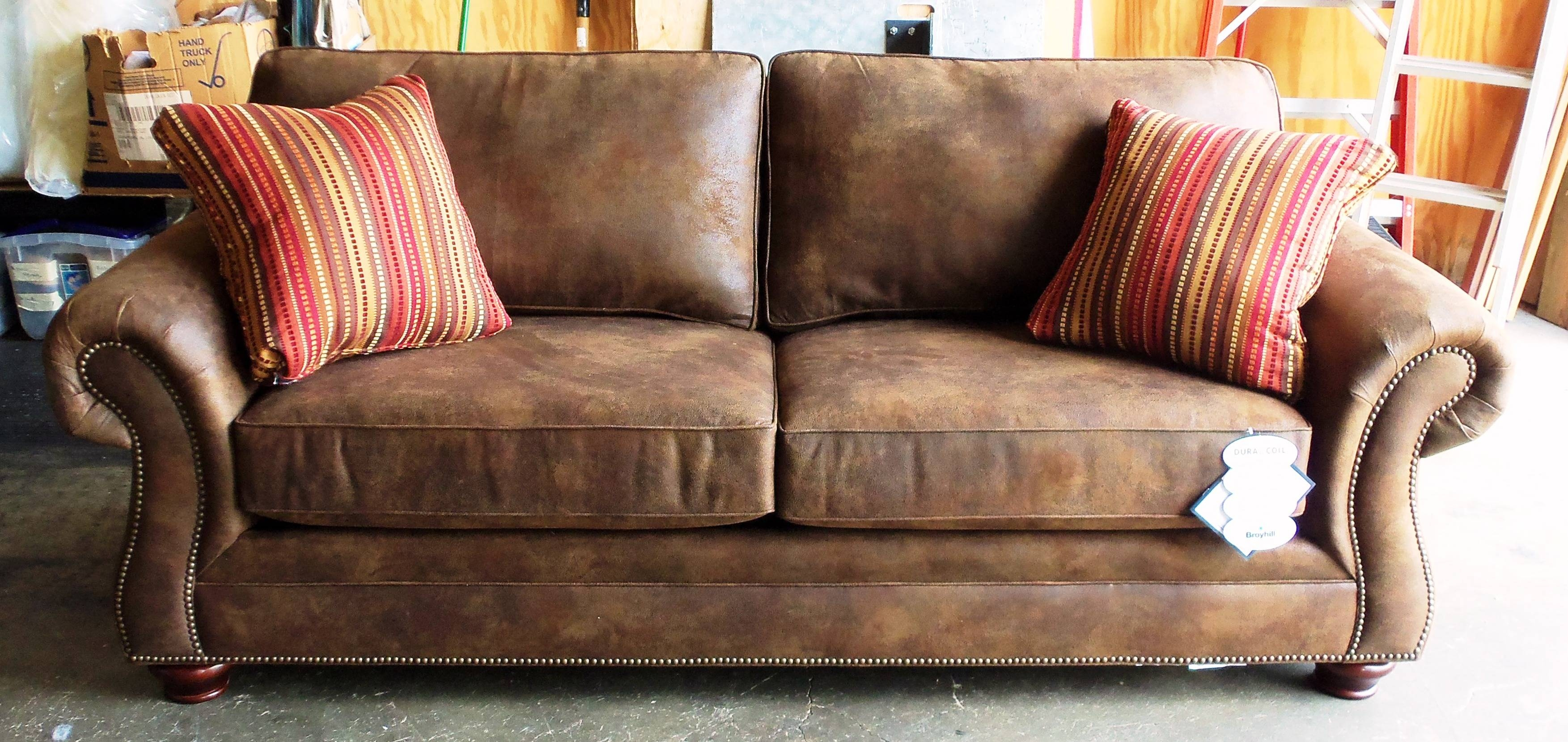 Furniture. Extra Large Brown Leather Chesterfield Love Seat With for Bomber Leather Sofas (Image 6 of 15)